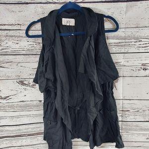 Jack by BB Dakota size small black utility vest